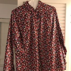 JCrew Liberty Sim Fit Floral Button Blouse